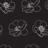 Seamless pattern with wild roses Royalty Free Stock Photos
