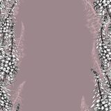 Seamless pattern with willow-herb on dark-pink royalty free illustration