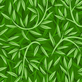 Seamless pattern with willow leaves. Stock Photography