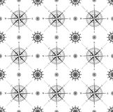 Seamless pattern with windrose Stock Image