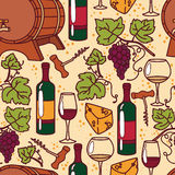 Seamless pattern for wine and winemaking Stock Photo