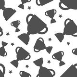 Seamless pattern with winners cup Stock Image