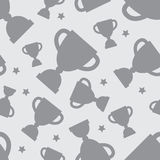 Seamless pattern with winners cup Royalty Free Stock Photo