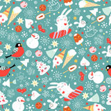 Seamless pattern winter Royalty Free Stock Photos