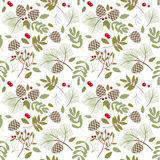 Seamless pattern, winter, autumn Stock Photos