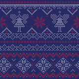 Seamless Pattern - Winter, Christmas, New Year Stock Images