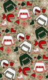 Seamless pattern of winter clothing. Vector illustration Stock Images