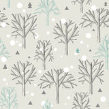 Seamless pattern for Winter forest  and christmas Stock Image