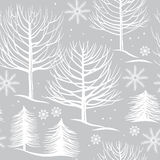 Seamless pattern, winter forest Royalty Free Stock Photos