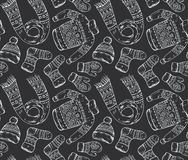 Seamless  pattern with winter holiday elements. Stock Photography