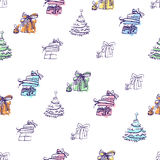 Seamless Pattern for the Winter Holidays Stock Photos