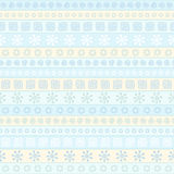 Seamless pattern with winter ornaments Stock Image