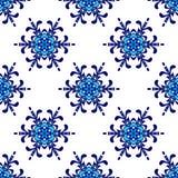 Seamless pattern winter snowflake  background Stock Photo