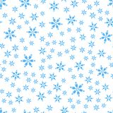 Seamless pattern of winter snowflakes vector background. royalty free illustration