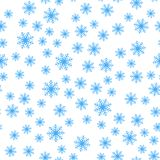 Seamless pattern of winter snowflakes vector background. stock illustration