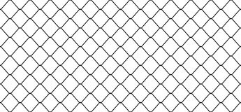 Seamless Pattern Wire Mesh Chain link Fence vector isolated wallpaper background Stock Illustration