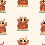 Seamless pattern with wise owls. The science. - Stock vector Stock Photography