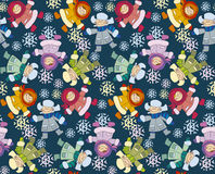 Seamless pattern wish winter kids Royalty Free Stock Images