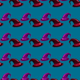 Seamless pattern with witches hats Stock Images
