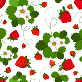 Seamless Pattern With A Strawberry Royalty Free Stock Photos