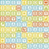Seamless Pattern With  Blocks Baby Boy Royalty Free Stock Photos