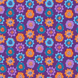 Seamless Pattern With Bright Abstract Flowers Royalty Free Stock Photography