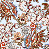 Seamless Pattern With Bright Beige Paisley Royalty Free Stock Photos