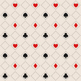 Seamless Pattern With Card Suits Stock Image
