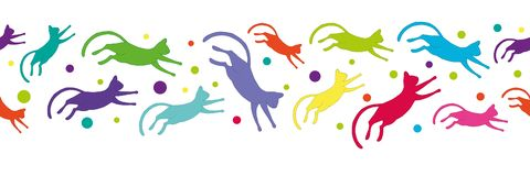 Free Seamless Pattern With Colorful Flying Cats Stock Photos - 144926123