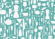 Free Seamless Pattern With Cooking Icons Background Stock Image - 36097251