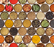 Free Seamless Pattern With Different Spices Isolated On White Background. Royalty Free Stock Photo - 99050795