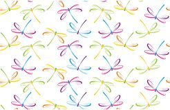 Seamless Pattern With Dragonflies Royalty Free Stock Image
