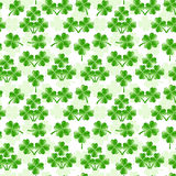 Seamless Pattern With Four Leaves Clover Stock Photography