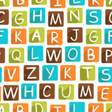Seamless Pattern With Funny Alphabet Royalty Free Stock Photography