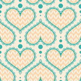 Seamless Pattern With Hearts Royalty Free Stock Image