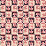 Seamless Pattern With Hearts In Retro Colors Stock Photos