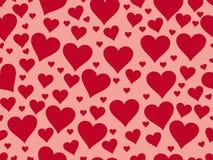 Seamless Pattern With Hearts. Valentine S Day. Textile Illustrat Stock Photo
