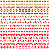 Seamless Pattern With Hearts. Vector Illustration Stock Photo
