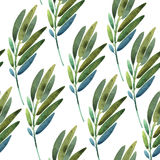 Seamless Pattern With Leaves Royalty Free Stock Image