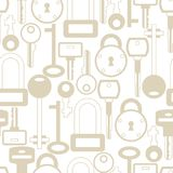 Seamless Pattern With Locks And Keys Icons Stock Photo