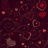 Seamless Pattern With Red Contour Shapes Royalty Free Stock Photos