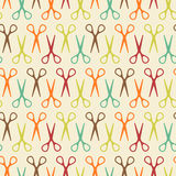 Seamless Pattern With Scissors Royalty Free Stock Photo