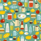 Seamless Pattern With Simple Food. Stock Images