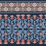 Seamless Pattern With Thistle Flower, Background In N Art Nouveau Style, Vintage, Old, Retro Style.n Royalty Free Stock Image