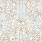 Seamless Pattern With Thistle Flower, Background In N Art Nouveau Style, Vintage, Old, Retro Style.n Stock Photos