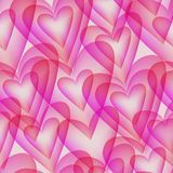 Seamless Pattern With Transparent Elements In The Form Of Hearts Royalty Free Stock Photography