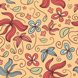 Seamless pattern withl flowers Royalty Free Stock Photos