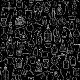 Seamless pattern withs alchemy signs Stock Photography