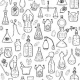 Seamless pattern withs alchemy signs Stock Image