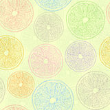 Seamless pattern witn absctract orages Royalty Free Stock Images